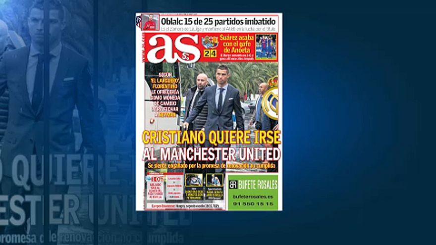 Újságcikk Ronaldo klubváltásáról