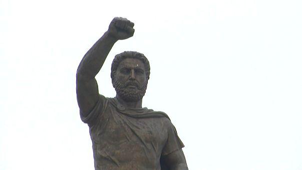 Statue of Alexander the Great in FYROM capital Skopje