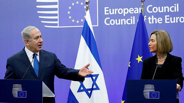 Israels Benjamin Netanjahu und EU-Chefdiplomatin Federica Mogherini