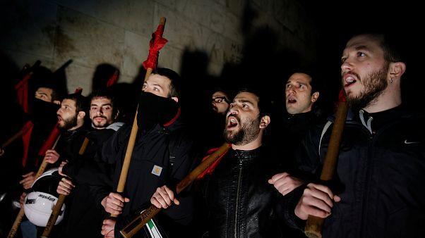 Une manifestation dégénère à Athènes