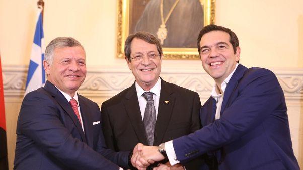 Τριμερής σύνοδος Ελλάδας-Κύπρου-Ιορδανίας