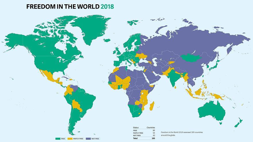 Freedom House raporu: Türkiye 'özgür olmayan ülkeler' kategorisine düştü