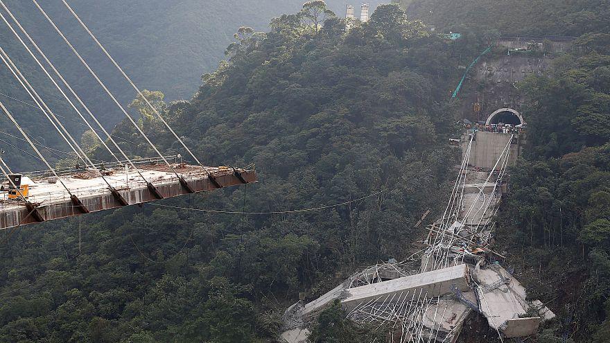 El viaducto desplomado en Colombia