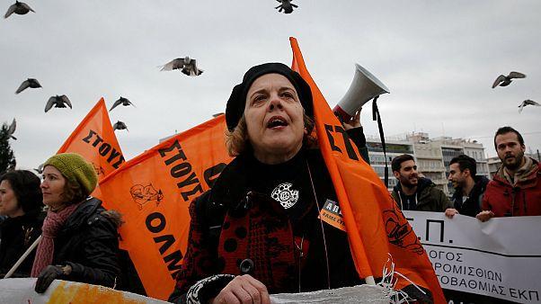 درگیری معترضان با پلیس در آتن