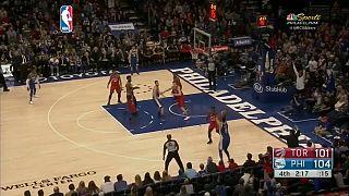 Trascendental triunfo de los Sixers ante los Raptors en la NBA