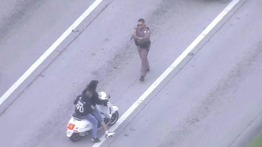 Motorradfahren gegen Waffengewalt: Polizei greift ein