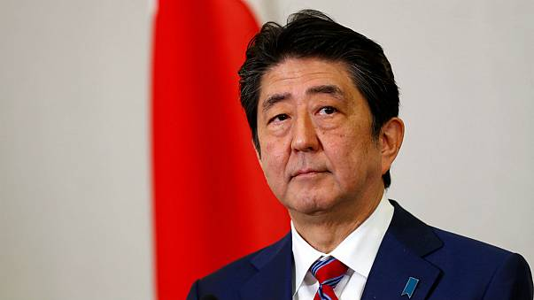Japanese Prime Minister Shinzo Abe during his tour of eastern Europe.
