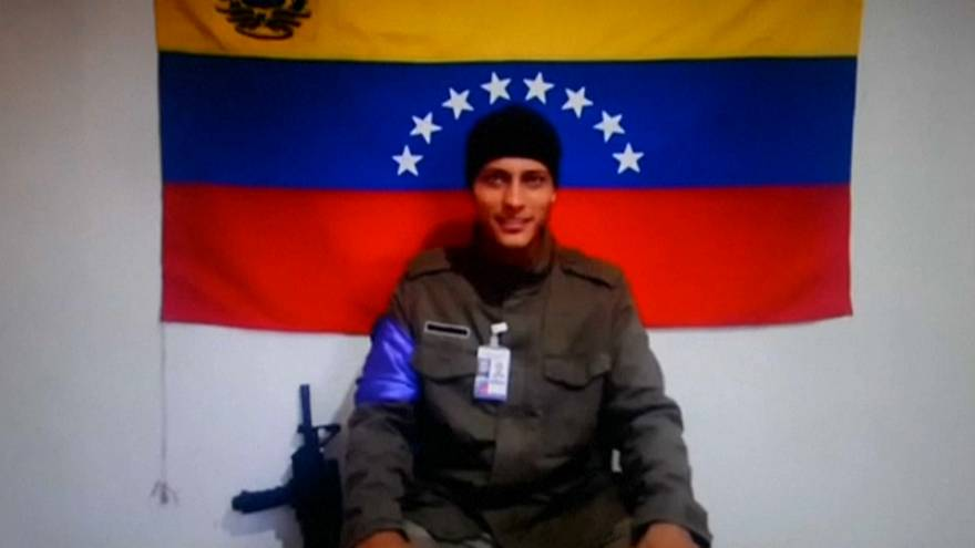 File photo of rogue Venezuelan helicopter pilot Oscar Perez
