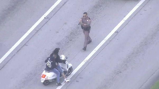 Miami'de tehlikeli motosikletliler