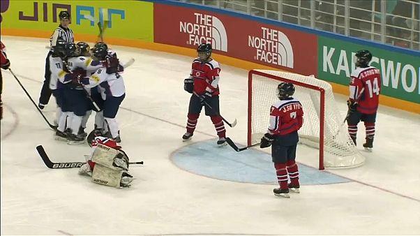 União de Coreias no hóquei no gelo feminino desagrada a sul-coreanos