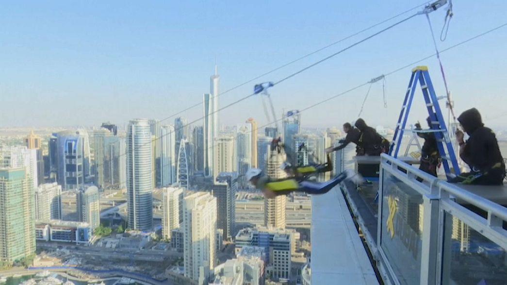Für Abenteuerlustige: 1 Kilometer lange Seilrutsche über Dubai