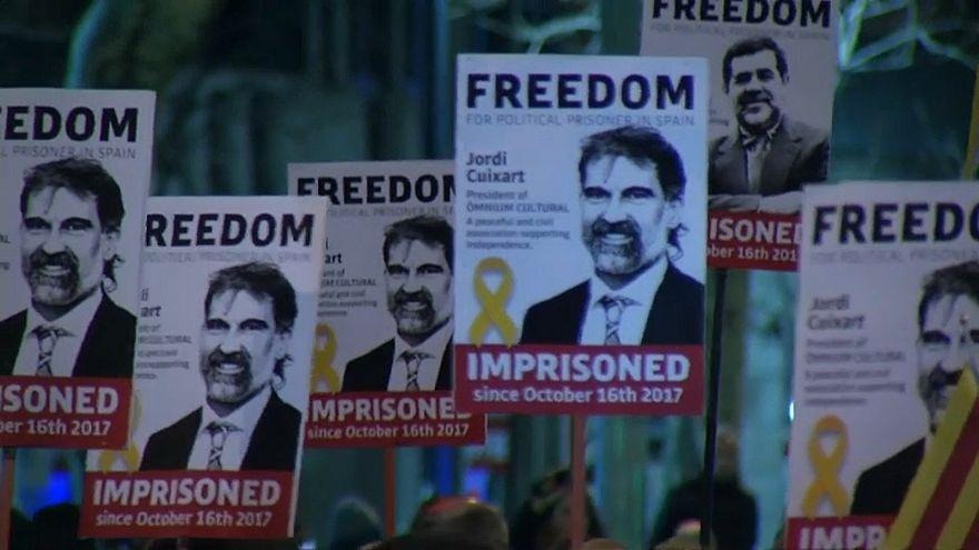 Barcellona: marcia della liberta' per i due Jordi