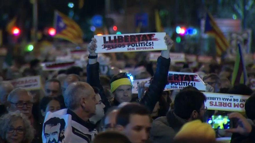 Demonstration von Unabhängigkeitsbefürwortern in Barcelona