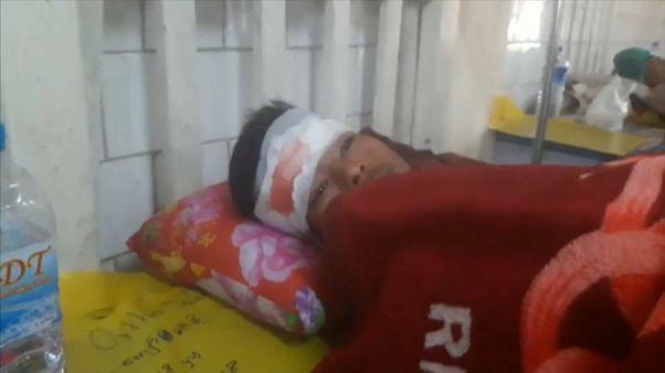 Uno dei feriti ricoverati all'ospedale