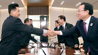 Coreias unidas para a abertura e o hóquei no gelo dos Jogos de Inverno