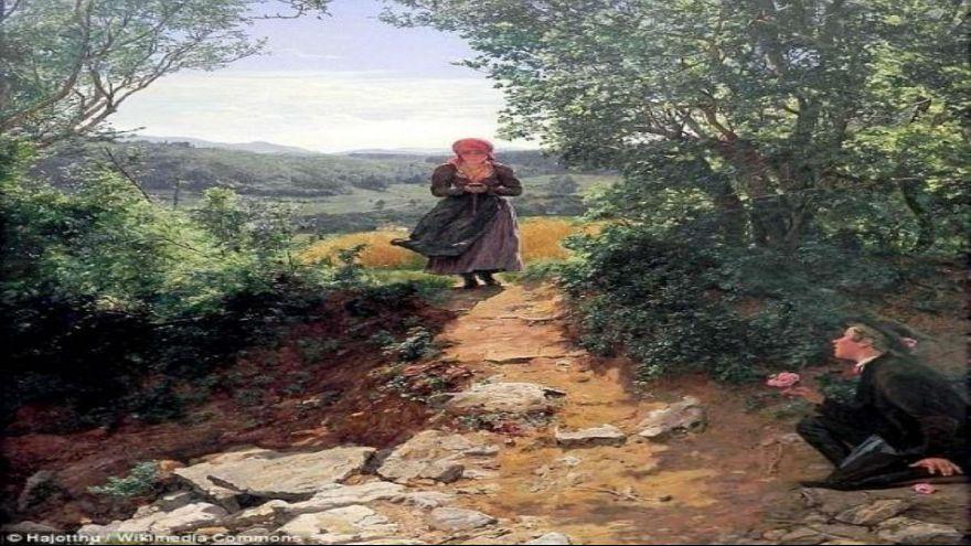 لوحة زيتية تعود إلى نحو 150 سنة تظهر امرأة تستعمل الآيفون