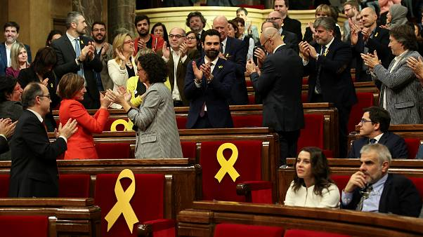 Catalan parliament holds first meeting, voting in separatist MP as speaker