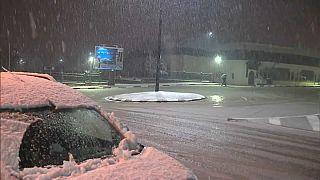 Schnee in Azrou
