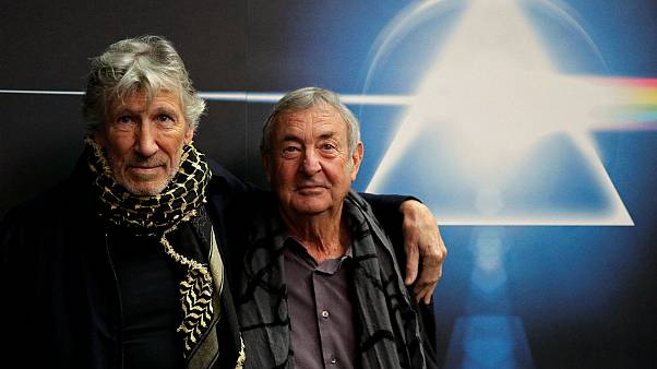Band members Roger Waters and Nick Mason