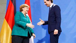 Sebastian Kurz trifft Angela Merkel
