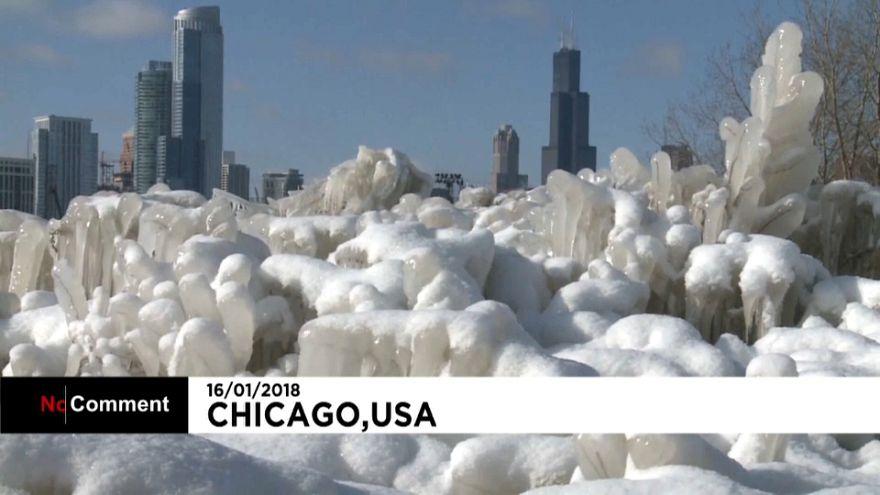 Eiseskälte im Nordosten der USA