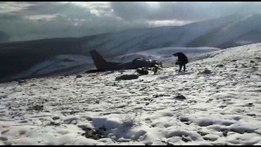 В Турции разбился учебный военный самолет