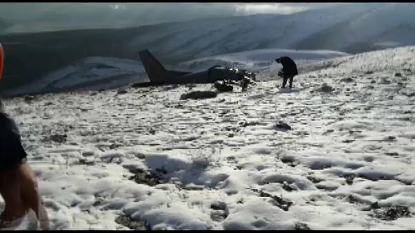 Turkish military plane crashed into hillside