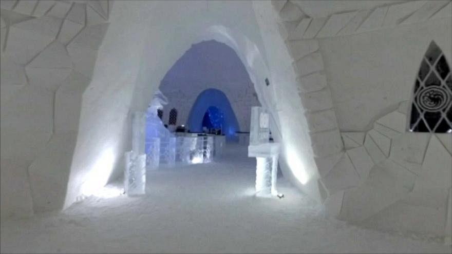 هتل یخی «بازی تاج و تخت» در فنلاند