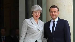 Макрон и Мэй: саммит в Сандхёрсте