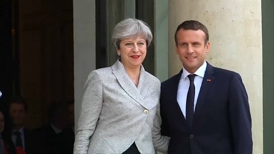 Theresa May und Emmanuel Macron