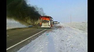 Fernbus ausgebrannt: Mehr als 50 Tote