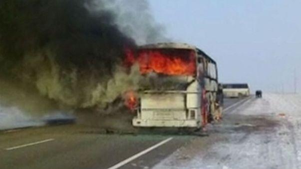 52 people killed in Kazakh bus fire