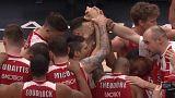 L'Olimpia festeggia la vittoria su Malaga
