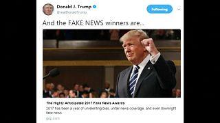"""Trump entrega  """"Prémios Notícias Falsas"""""""
