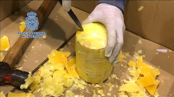Polícia portuguesa encontra 745Kg de cocaína escondida em ananases