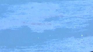 Quatro manchas de crude encontradas depois da explosão do petroleiro Sanchi
