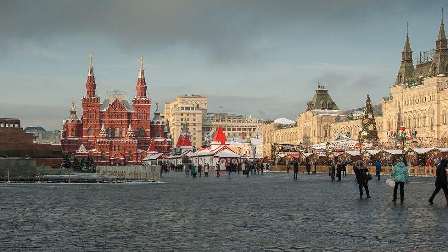 Grauer Himmel über Moskau