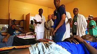 Patients wounded in fighting in hospital in Bangui