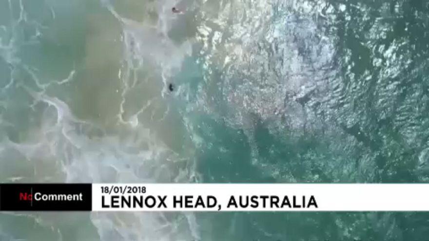 Avustralya'da drone hayat kurtardı