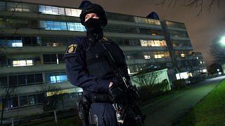 Polizist an der Rosengard-Wache