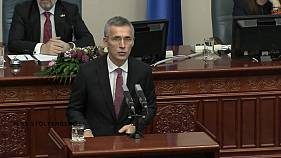 NATO Secretary General visits FYROM as it renews bid to join the alliance