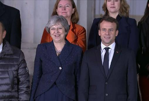 Macron and May stress unity at joint press conference