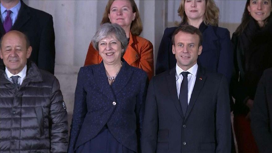 Macron and May stress unity at joint press conference