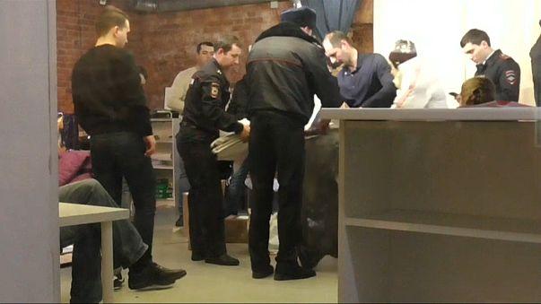 Полиция в штабе Навального