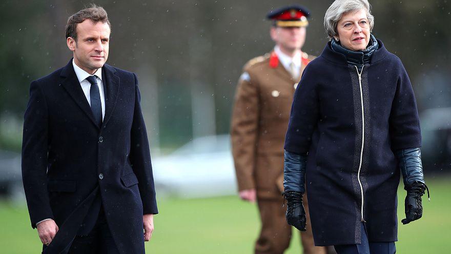 Emmanuel Macron und Theresa May in Sandhurst