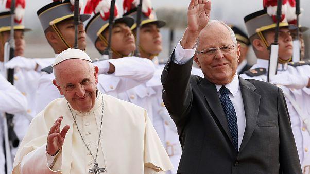 Papst Franziskuns und Staatschef Pedro Pablo Kuczynski