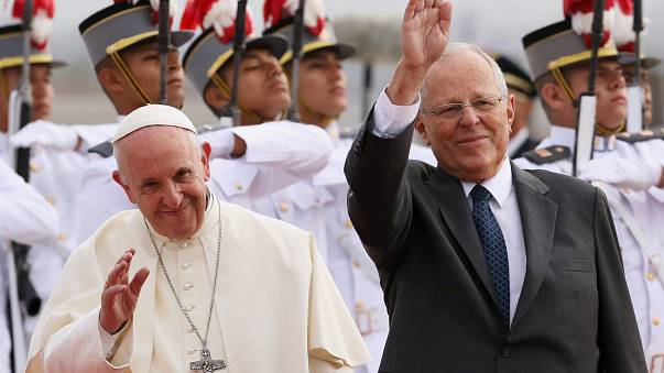 Peru President asks visiting Pope Francis for help
