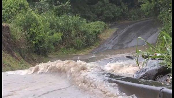 Inondations à la Réunion après le passage de Berguitta