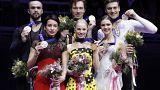 Avrupa Artistik Patinaj Şampiyonası'na Rus sporcular damga vurdu