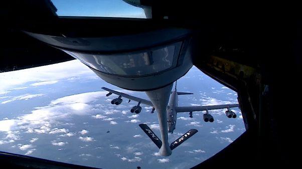 Ensayos militares aéreos en el Mar del Norte